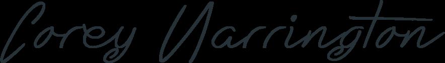 Signature of Pagecraft founder Corey Harrington